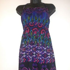 Peacock Patterned Maxi dress